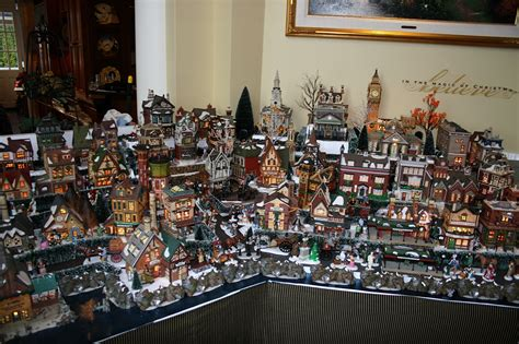 another view of dickens village display snow village