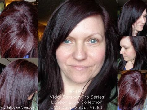 deep velvet violet hair dye african america vidal sassoon hair color deep velvet violet after photo