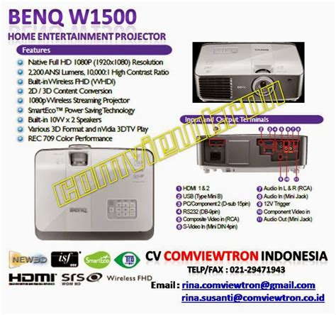 Ups Micropack Tr650 Harga Promo dunia proyektor jual projector benq w1500 home theater