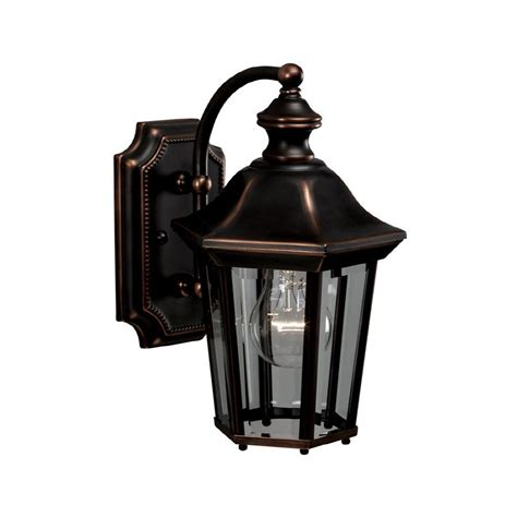 allen and roth outdoor lighting allen roth oakton 11 in copper outdoor wall mounted