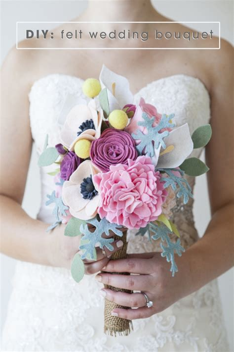 Handmade Felt Flowers Tutorial - this wedding bouquet is made out of felt flowers learn