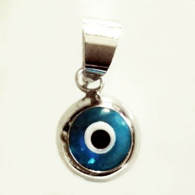 Silver Evil Eye 13 9mm Pendant charms 9ct 9kt gold sterling silver pendants