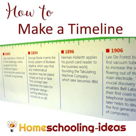 How To Make A Timeline On Paper - how to make a timeline make your own timeline for homeschool