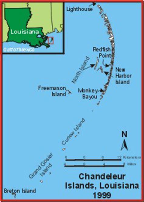 louisiana islands map usgs national wetlands research center prehurricane survey