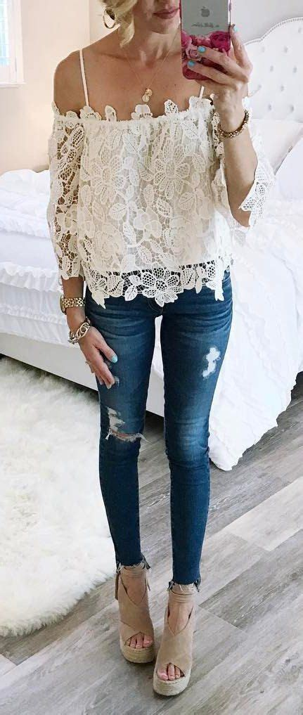26630 Wedging Casual Top 60 trending to try now ripped cold shoulder and