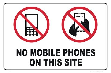sign in to mobile no mobile phones sign no texting sign national safety