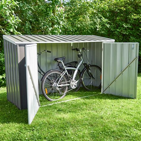 coffre de jardin metal coffre de jardin m 233 tal jasper 1 41 m 178 gris plantes et jardins