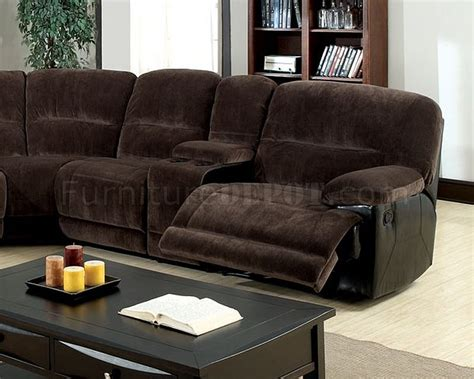 brown microfiber sectional glasgow motion sectional sofa cm6822 in brown microfiber