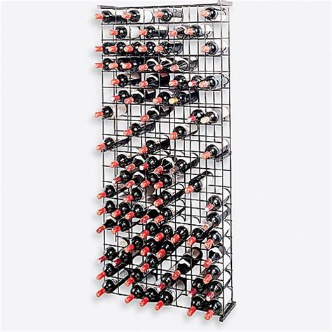 Kitchen Island Dimensions Buy Wine Enthusiast 144 Bottle Metal Grid Wine Rack From