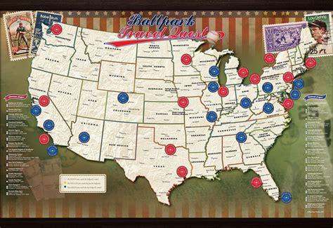 mlb usa map puzzle mlb ballpark map sharper image