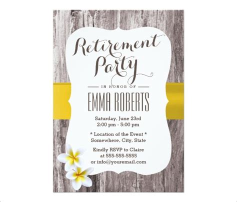 Retirement Announcement Flyer Template by 52 Invitation Designs Exles Psd Ai Eps Vector