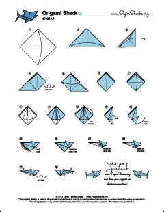 How To Make A Origami Shark Step By Step - pin origami shark diagram on