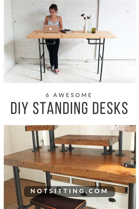 diy sit stand desk plans 6 diy standing desks you can build too notsitting com