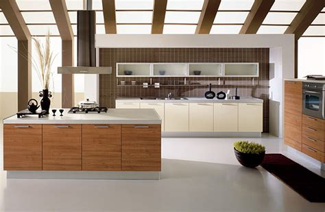 Straight Long Floating Kitchen Cabinets Mixed L Shaped