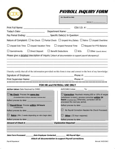 26 Payroll Sles Templates In Pdf Sle Templates Payroll Check Template Free Form