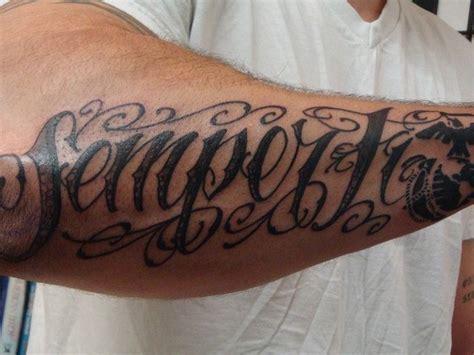 semper fi tattoos semper fidelis