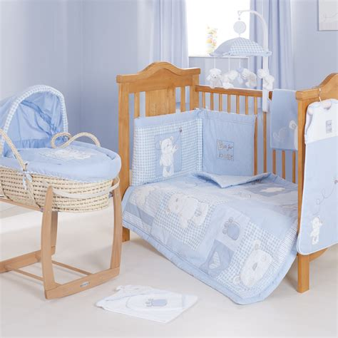 moses bed b is for bear moses basket blue