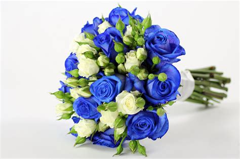 Blue Flower Wedding Bouquet by Something Blue In Your Bridal Bouquet