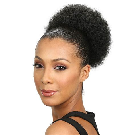 large afro puff ponytails in blonde colours jumbo kinky curly afro puff drawstring ponytail high bun