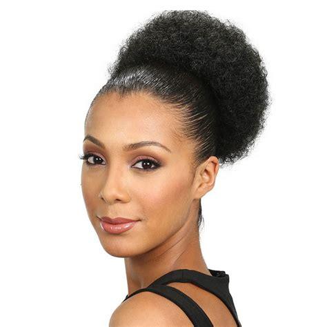 Realistic Drawstring Afro Puff Jumbo | jumbo kinky curly afro puff drawstring ponytail high bun