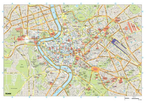 rome italy map rome buildings map rome italy mappery