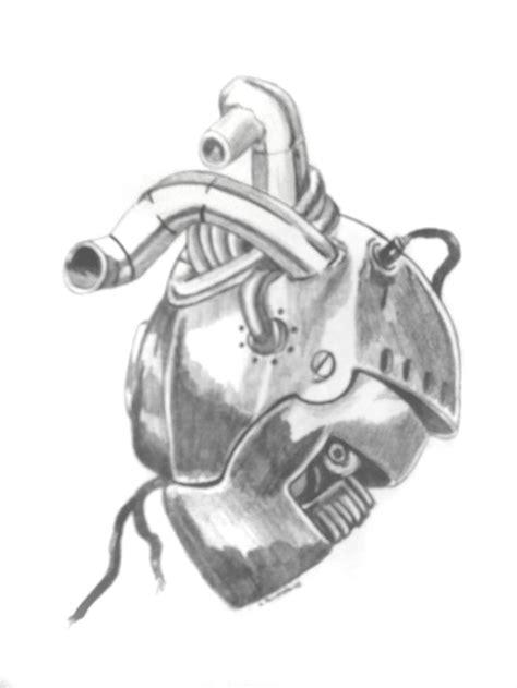 mechanic tattoo drawing mechanical heart drawing