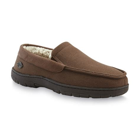 dickies and house shoes dickies men s brown moccasin slipper shoes men s shoes men s slippers