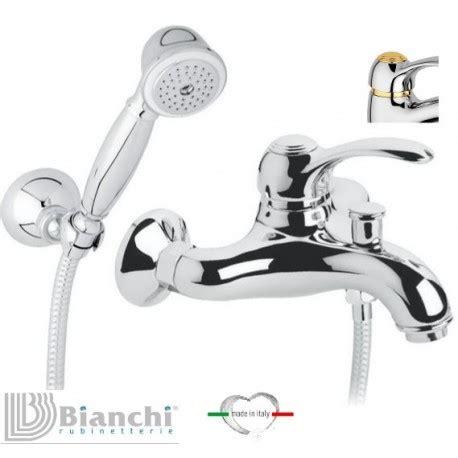 rubinetti bianchi bianchi gruppo vasca esterno con doccetta monocomando