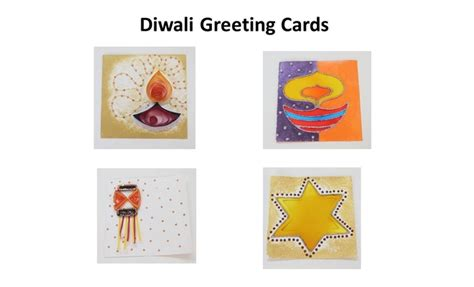 Paper Craft Greeting Cards - 4 easy handmade diwali greeting cards ideas