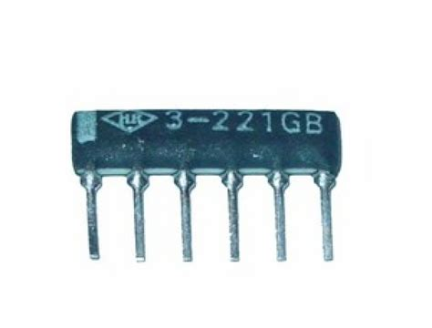 22 ohm resistor network 22 ohm 2 6 pin 3 resistor thick sip network