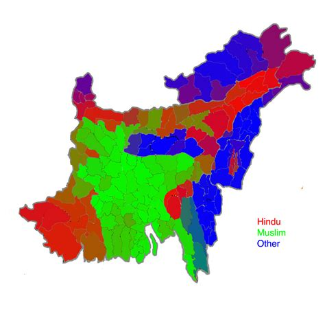 Partition Bengal Into Hindu And Muslim Sections by Bangladesh South Asia