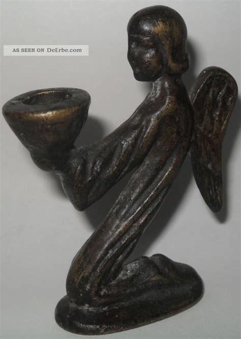 kerzenhalter antik alter bronze kerzenhalter engel kerzenst 228 nder antik