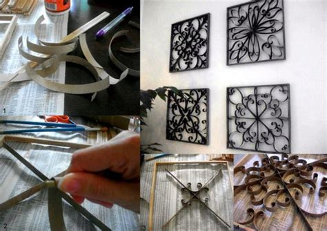 How To Make Paper Wall Decorations - how to make pretty wall decor with toilet paper roll