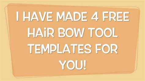 Free Hair Bow Tool Templates Youtube Cheer Bow Template Printable Free