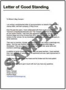 letter of standing template how to write a letter of standing sles