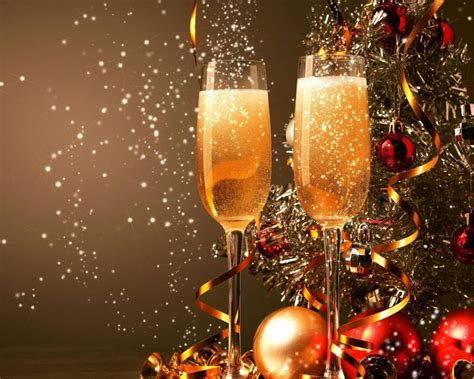happy  year  glasses  champagne   decorations desktop wallpaper hd