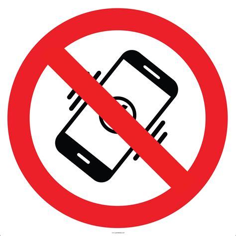 cep telefonu kullanmak yasaktir isaretilevhasietiketi