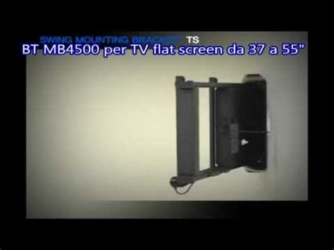 staffa music bt mb4500 staffa motorizzata per tv da parete youtube