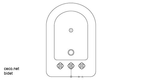 Bidet Drawing by Bidet 2 Top View Block In Bathrooms Detail Autocad Free