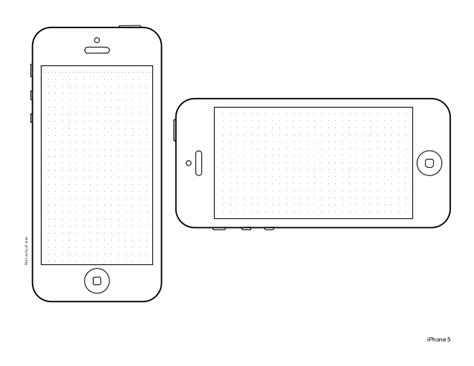 Iphone 5 Design Template Iphone Presentation Template