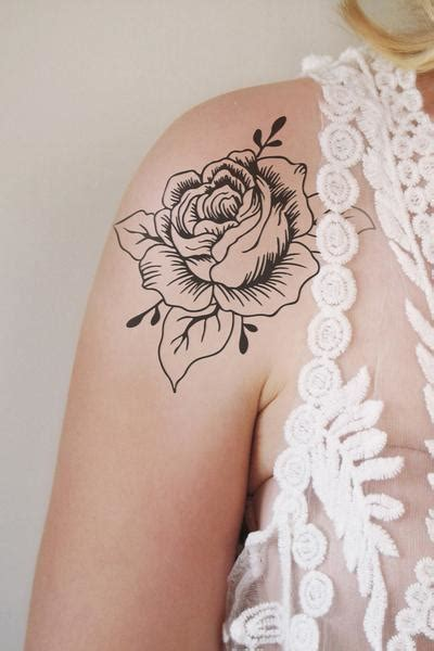 rose temporary tattoo floral temporary tattoos temporary tattoos by tattoorary