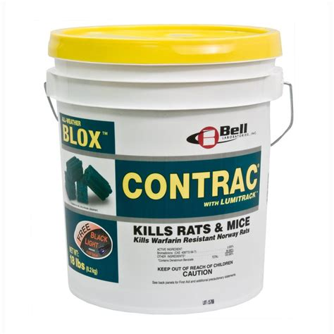 Lu Insect Killer contrac blox with lumitrack 18 lb pail wildlife supplies product code 795599