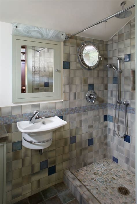Blue Tiles Bathroom Ideas by 30 Cool Pictures And Ideas Pebble Shower Floor Tile