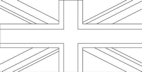 free coloring pages of england flag outline united kingdom clipart 38