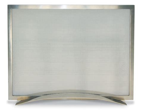 brushed nickel fireplace screen fireplace screens fireplace doors spark protection
