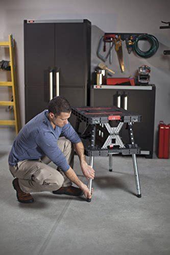 keter folding compact workbench sawhorse work table keter folding compact adjustable workbench sawhorse work