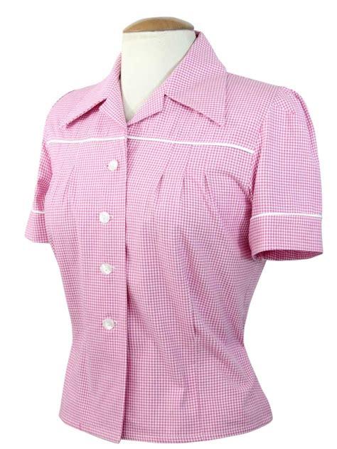 Jojo Blouse jojo blouse gingham pink from vivien of holloway