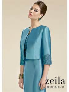 zeila 018912 lace sleeved dress and jacket platinum or