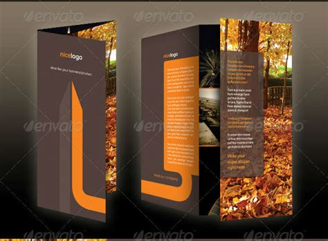 tri fold brochure template photoshop a4 flyer template psd erogonjewelry