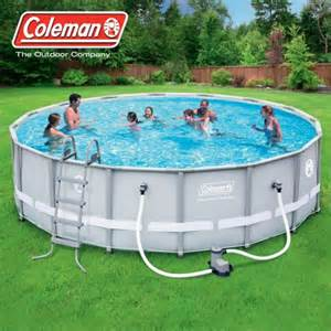 Backyard Pools Walmart Coleman 16 X 48 Quot Power Steel Frame Above Ground Swimming Pool Set Walmart